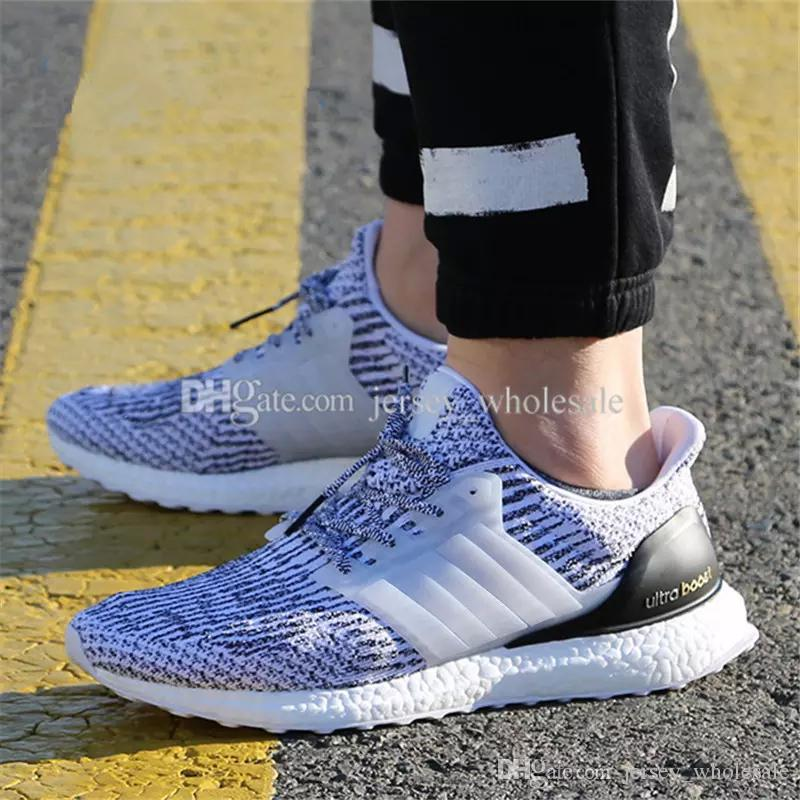 outlet store 9e1cd 41efc Ultra Boost 2.0 3.0 4.0 UltraBoost mens running shoes for men sneakers  women Sports UB CNY Dog Snowflake Core Triple Black All White Grey