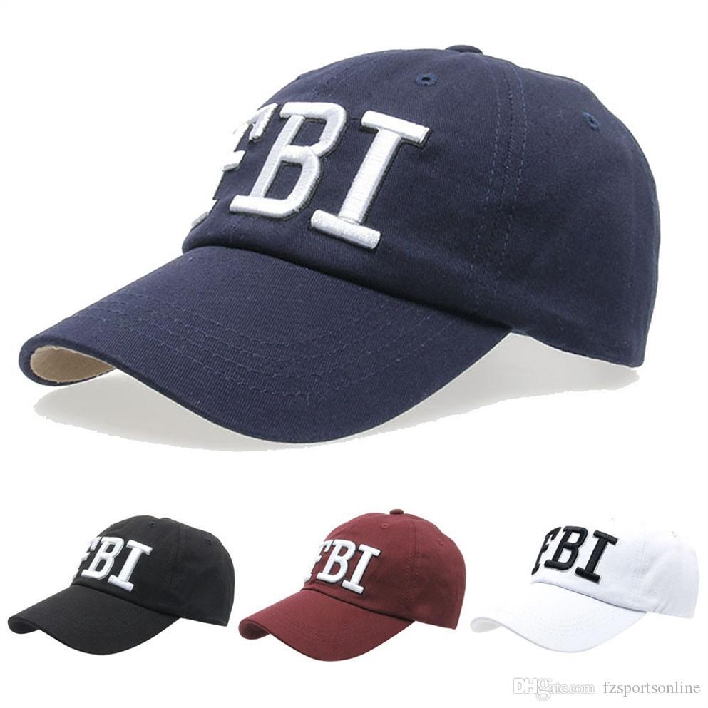 add18e02b88b55 Snapback New Summer Baseball Caps Women Men FBI Letters Embroidery ...