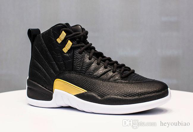 a2e3497f7f24 WMNS 12s Midnight Black Mens Basketball Sneakers Shoes BLACK METALLIC GOLD  WHITE 12 Outdoor Athletic Trainers Size 40 47 Sneakers Jordans From  Heyoubiao