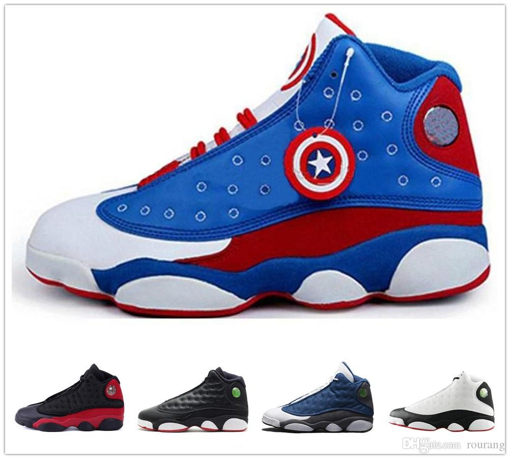 Compre Nike Air Jordan Aj13 13 Gorra Roja Y Bata De Color Rojo Gimnasio  Rojo Negro Stingray OVO Midnight Navy Bred Shoes 13s Mens Womens Kids  Basketball ... 52a14f9503f