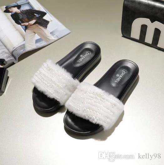 Hot Sale Rihanna Leadcat Fenty Faux Fur Slide Sandal Women Classical Fenty  Slippers Brand Slide Sandals Fenty Slides Designer Sandals Cute Shoes  Leather ... 07744f7e26