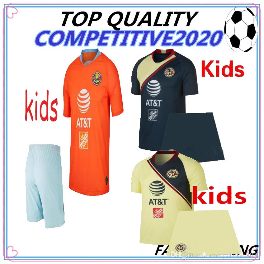 separation shoes 26ee8 313ed kids kit 2018 2019 thailand Mexico LIGA MX Club America Soccer Jerseys Home  18 19 Apertura A18 CAMPEON Third Chivas Tigres football shirt