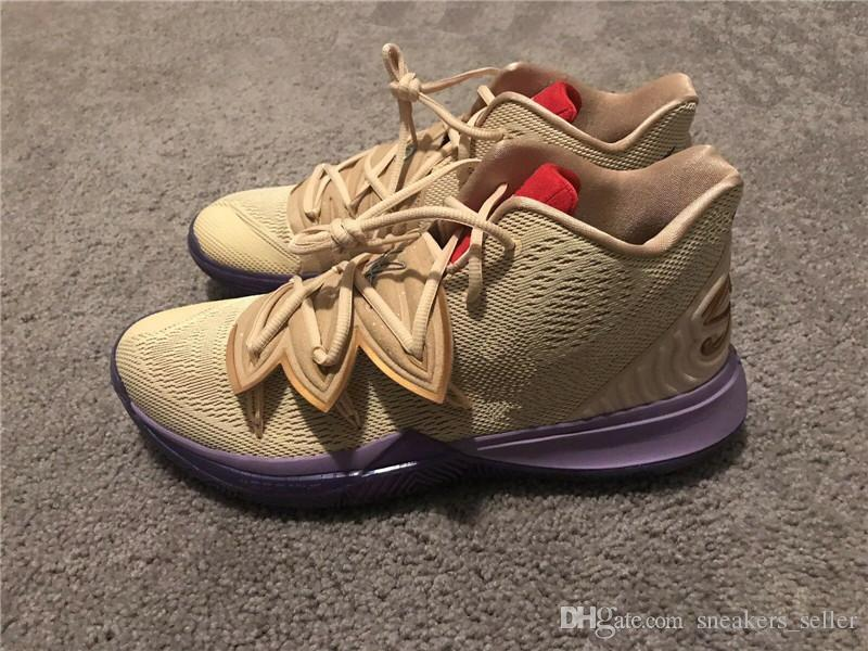 fa75b7c197b6 2019 Kyrie V Ikhet DS Beige Purple CI0295 900 Size  7 12 For Sale Best  Quality Irving 5 Basketball Shoe Store 14 Colour With Box Basketball Shoes  Women ...