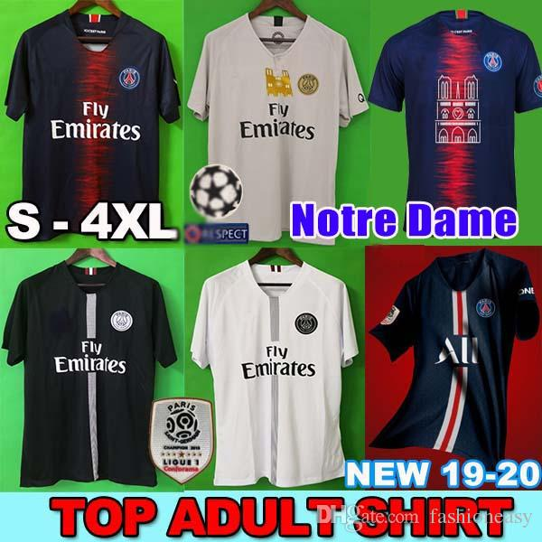 79707e39e PSG AIR JORDAN AJ S 4XL Soccer Jersey Football Shirt Tercera 18 19 Chandal  De Fútbol 2018 Paris Saint Germain Jerseys Champion Campeones NEYMAR JR  MBAPPE ...