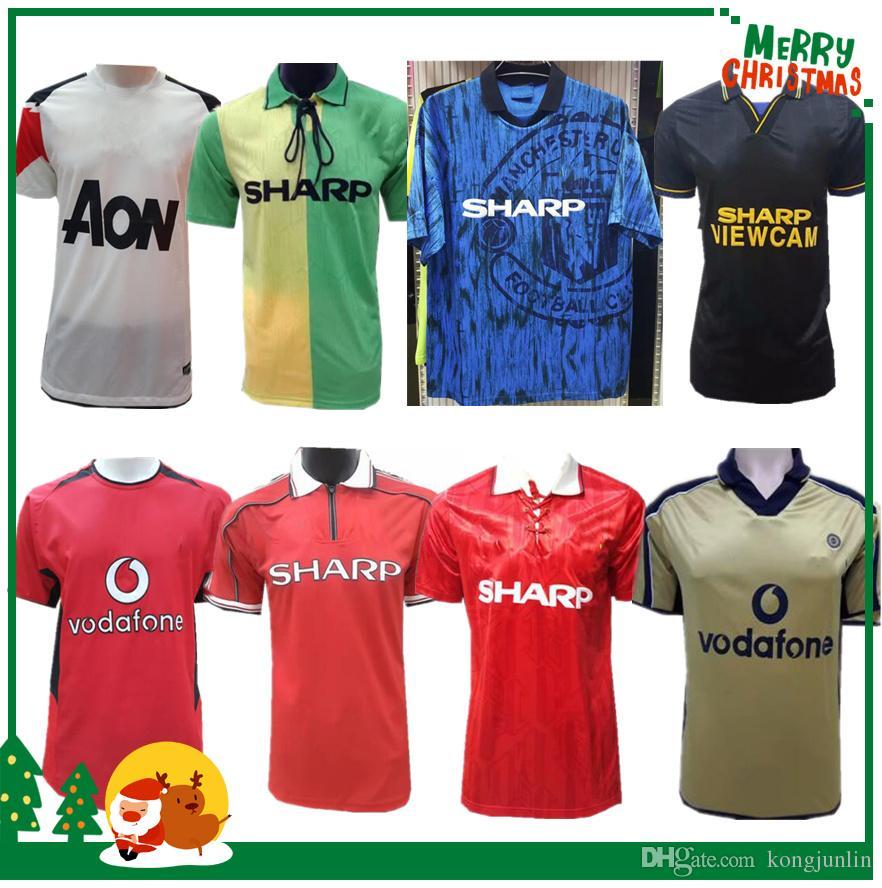 huge discount f11a6 867e3 Retro 1992 1994 1999 2002 2003 2007 2010 Manchester Soccer Jersey RONALDO  training wear special edition Sports football shirt