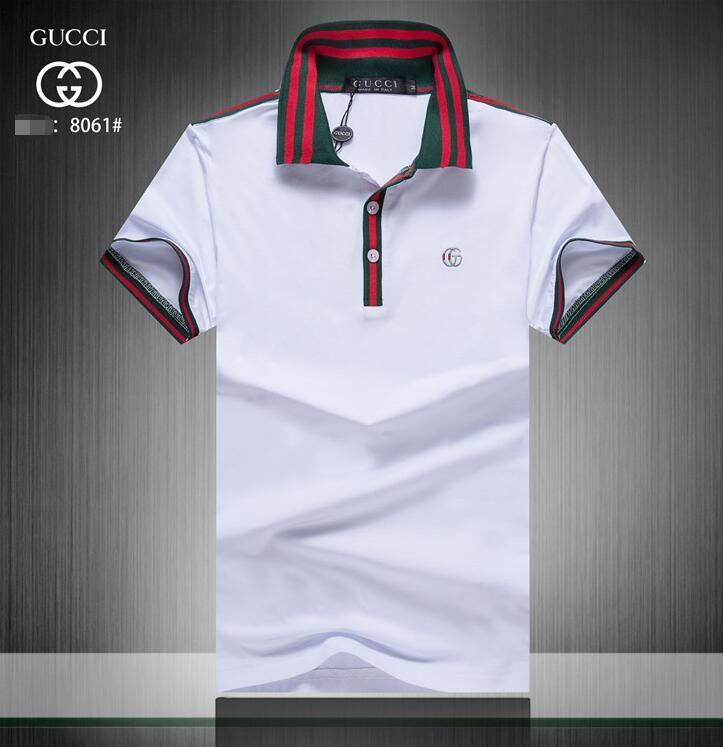 d63fc0dbdc75 2019 Men GUCCI T-Shirt Spring Summer New Short Sleeve Henry Collar T Shirt  Men Brand Soft Pure Cotton Slim Fit  JM001 T-Shirt Polo Coat Online with ...