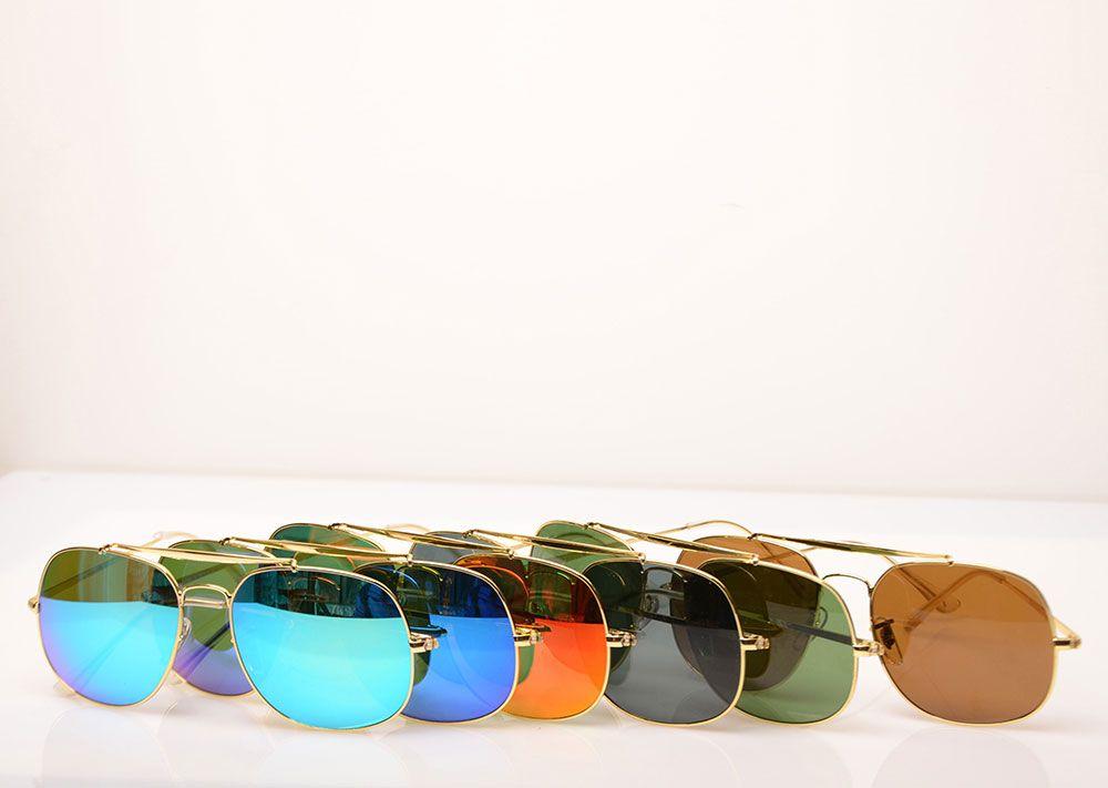 Melhor qualidade Mens Sunglasses 3561 Designer óculos de sol cor da lente de vidro mulheres óculos de marca unissex óculos de sol me co com Original boxs