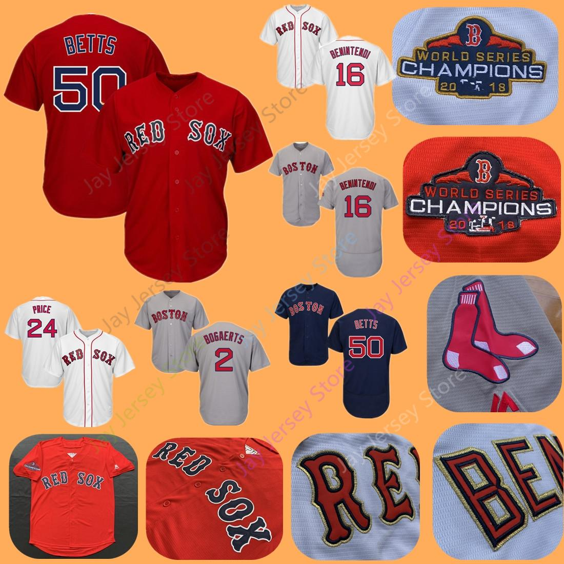 wholesale dealer 7e533 660d1 Boston Betts Benintendi Jersey Red Sox 2018 WS World Series Gold Champions  Bogaerts Pedroia Bradley Sale Martinez Ortiz Price Martinez Women