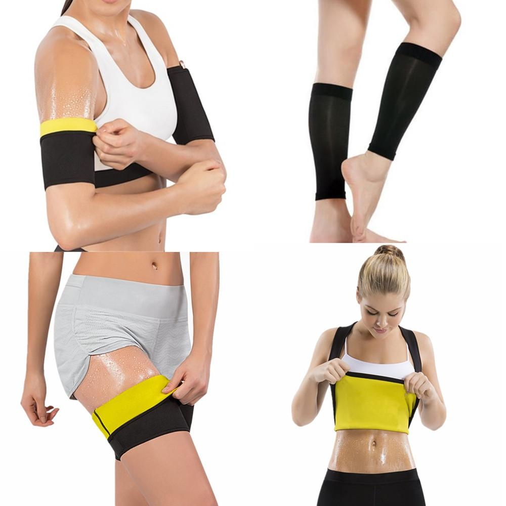 183330fae0 2019 Women Shapers Sweat Sauna Slimming Shirt Hot Body Shaper Arms Sleeves  Leg Sleeves Thigh Trainer Calf Shapewear Weight Loss Suits From Lucu