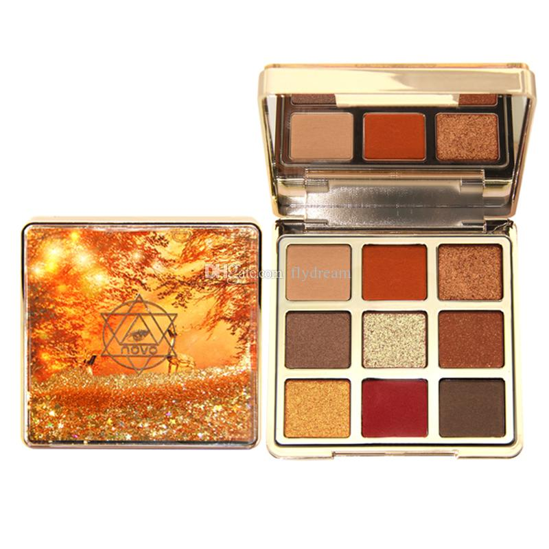 Beauty NOVO Mirage Quicksand Eyeshadow Palette Matte Shimmer EyeShadow Glitter Eye Shadow con set di pennelli Imballaggio squisito DHL