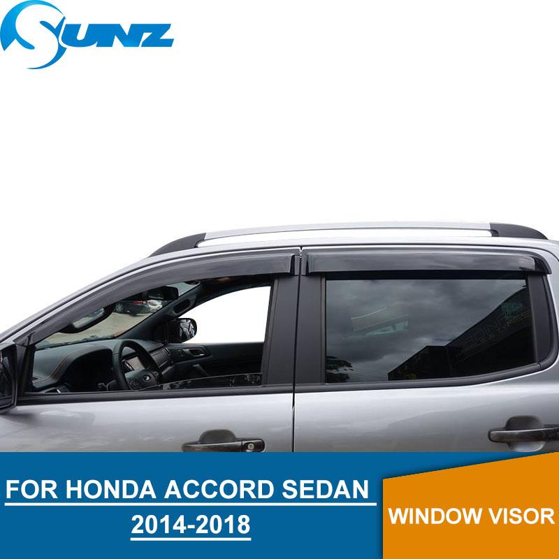 Window Visor for ACCORD 2014-2018 side window deflectors rain guards for ACCORD 2014-2018 SUNZ