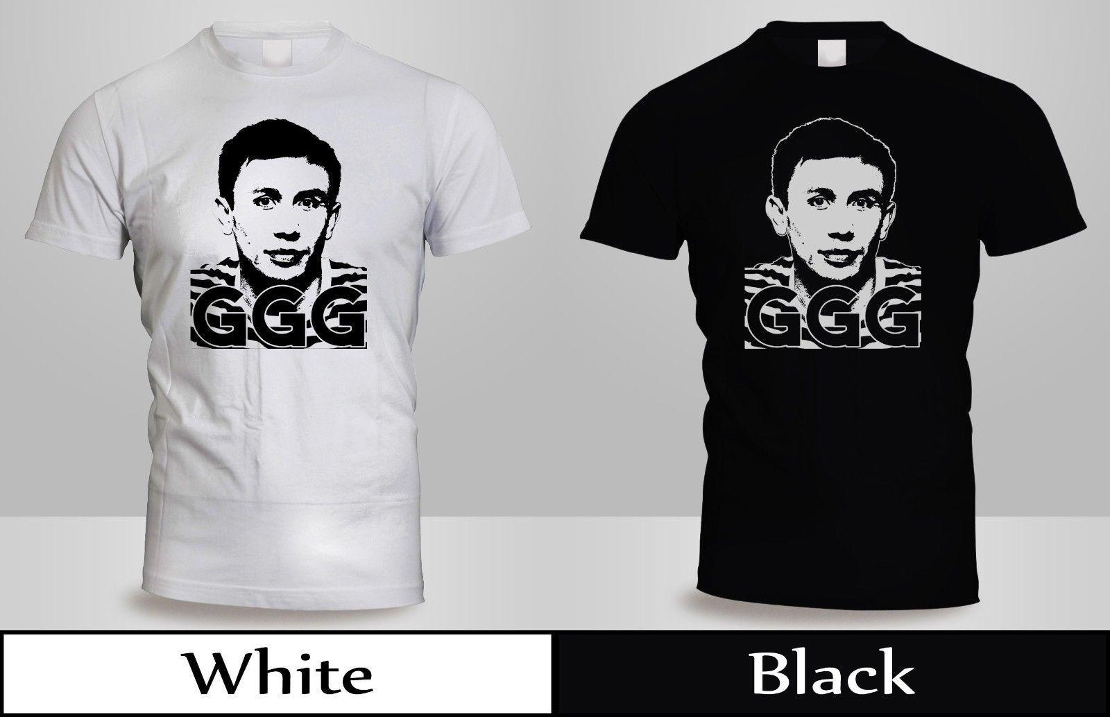 de2613b41411cb New Gennady Golovkin GGG T Shirt Mens Black White Boxing Best Poster Shirt  3 Popular T Shirt Funny It Shirts From Jasmine86