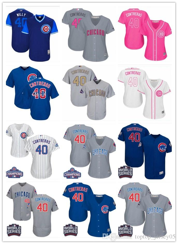 pretty nice 95ef9 d3d56 2018 top Chicago Cubs Jerseys #40 Willson Contreras Jerseys  men#WOMEN#YOUTH#Men s Baseball Jersey Majestic Stitched Professional  sportswear