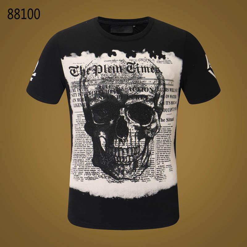 89a2a4103c45 Men T Shirt Summer O-Neck Casual Fashion Hip Hop Print Tops Tees Cotton  High Quality  3134 PP Men  s Short Sleeve T-Shirts