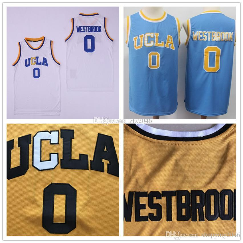 huge discount 8f950 41629 NCAA UCLA Bruins 0 Westbrook jersey Russell #2 Lonzo Ball White Blue  Basketball Jerseys College Shirts Stitched patches embroidered