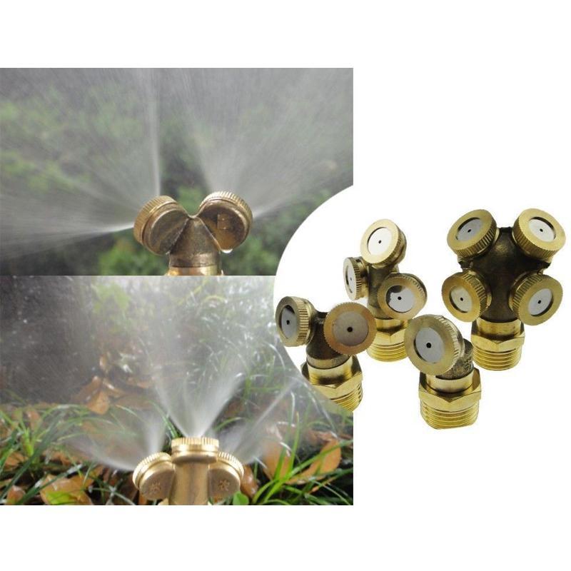 Ottone regolabile Spray Ugello di nebbia Garden sprinkler raccordo del tubo connettore Durable Water Fitting casa Irrigazione