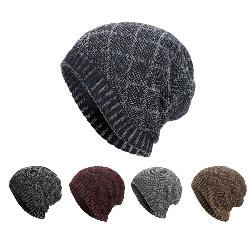 83d71bf65b2c2 2019 Women Men Warm Baggy Weave Crochet Winter Wool Knit Ski Beanie Skull  Caps Hat Cool And Warm Hat