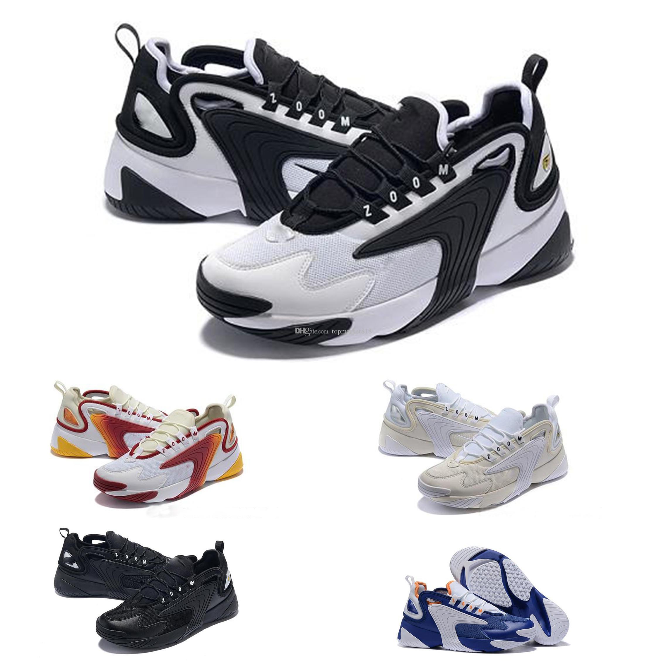 f328293a Compre M2k Tekno Zoom 2K ZM 2000 Hombres Estilo De Vida Al Aire Libre  Zapatos Casuales Negro Blanco Azul Naranja Zapatos Para Correr De Moda  Tamaño EE. UU.