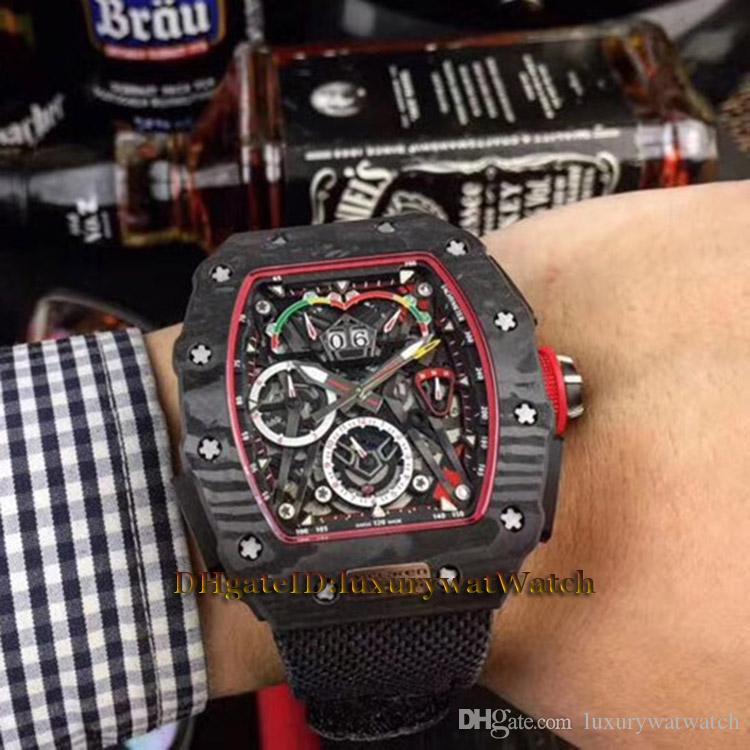 Montre Bracelet 01 F1 Cadran Rm En 50 Noir Nouveau 03 Mclaren Mouvement Rm50 Carbone Fiber Vk Chronographe Homme De Japon Pour Squelette Quartz Ajq4Sc5LR3
