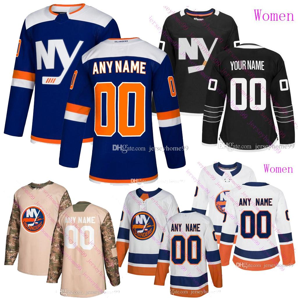 Benutzerdefinierte New Yorker Inselbewohner Jersey Mathew Barzal Josh Bailey Anders Lee Eberle Eishockeytrikots Nick Leddy Thomas Hickey Anthony Beauvillier