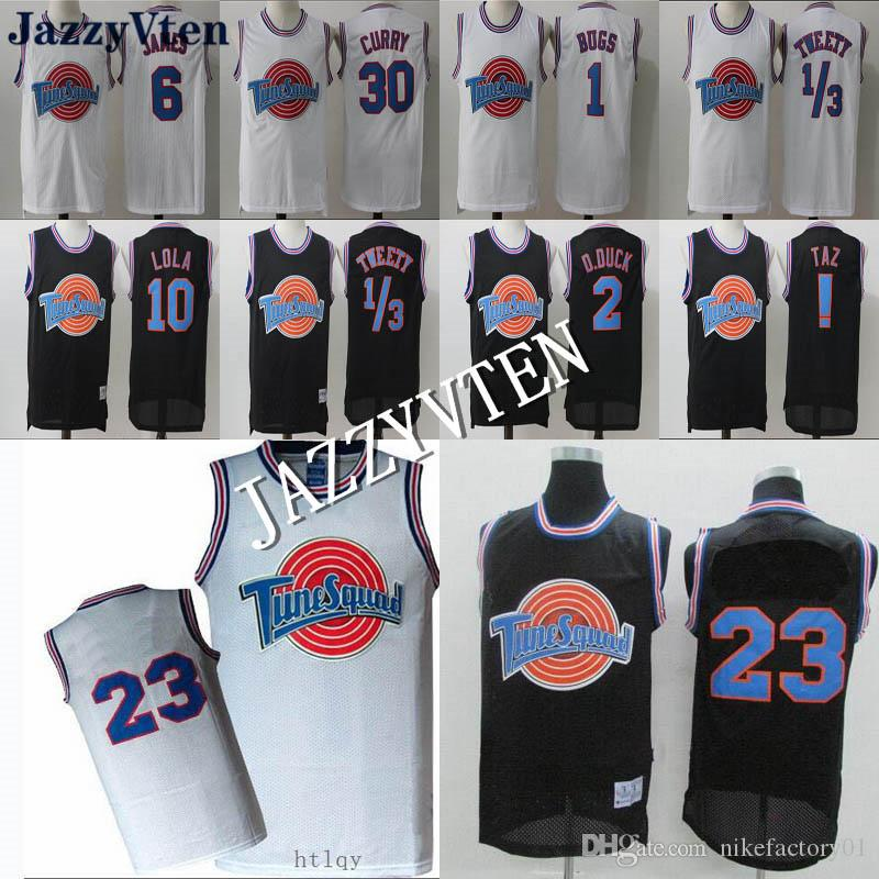 b8a8d34cbbcabd 2019 Space Jam Jersey Tune Squad Looney Daffy Duck Bill Murray Lola Bugs  Bunny 30 Curry Michael 6 LeBron James Basketball Jerseys From  Nikefactory01