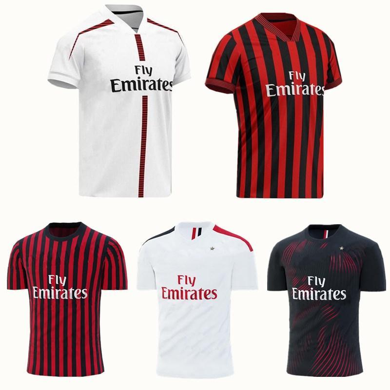 new arrivals 18e2b a8150 Ac Milan 19 20 Soccer Jersey 2019 2020 Football Shirt Higuain Paqueta  Borini Piatek Caldara Cutrone Camisa Calhanoglu Piatek Maillot