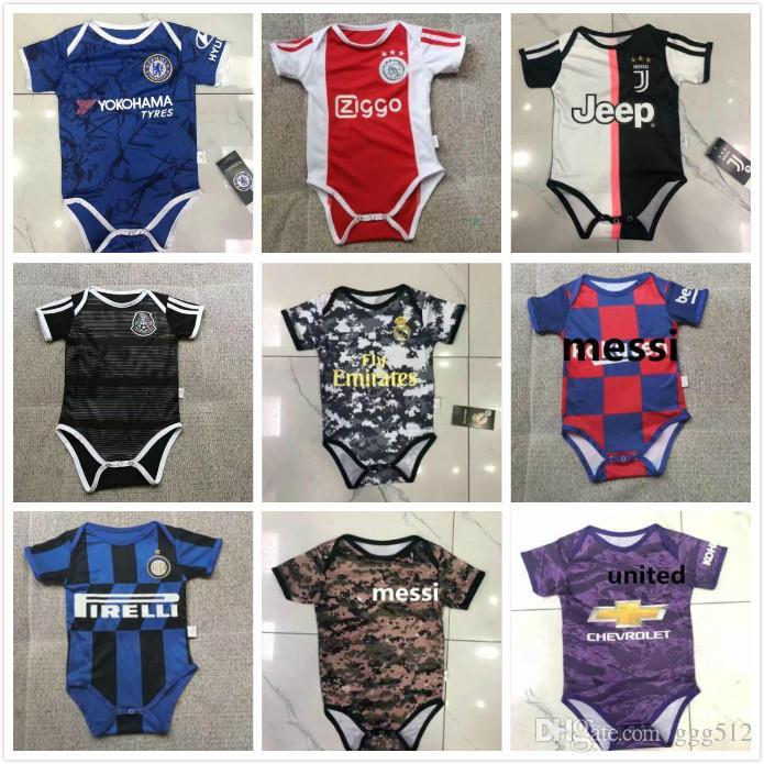 official photos 70d7a c67fc 19 20 Real Madrid RONALDO HAZARD Baby Soccer Jersey messi Inter ICAROI  salah United POGBA ajax mexico Kids Football 2019 2020 Shirt Uniforms