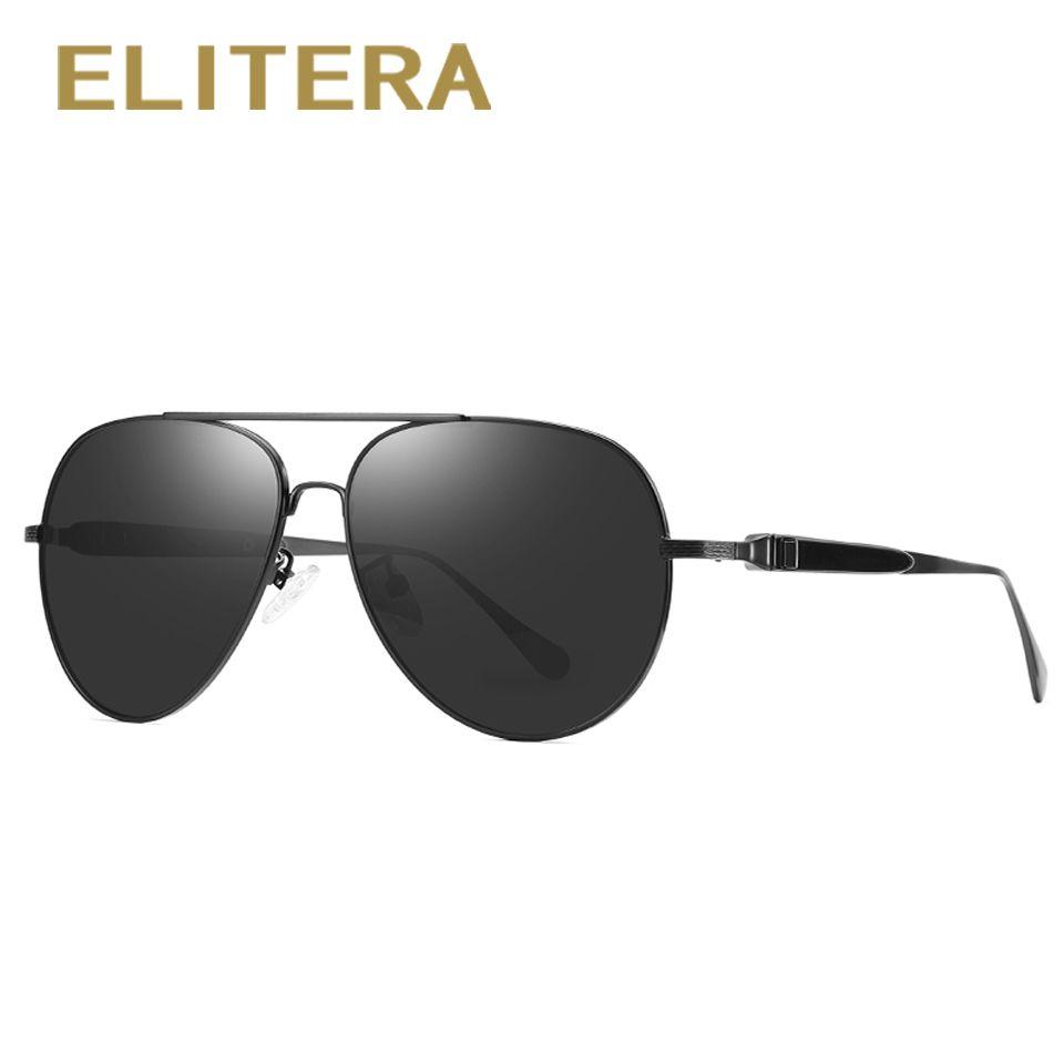 805e65ce9a ELITERA Classic Polarized Sunglasses Men Driving Frame Pilot Eyewear Male  Sun Glasses Best Sunglasses For Men Vuarnet Sunglasses From Xailiang