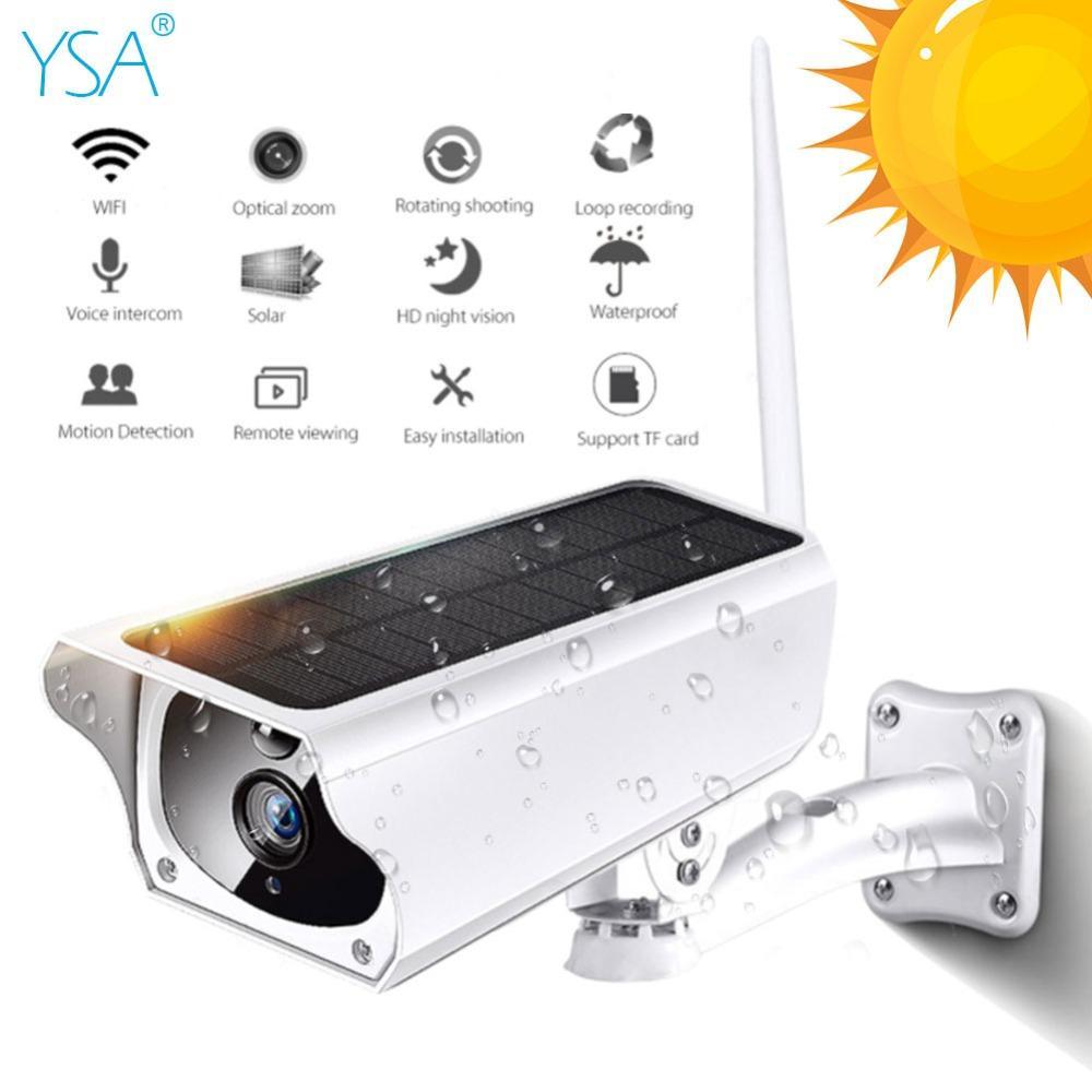 7615ff0aa8259 Acheter YSA 1080 P Solaire Caméra IP 2MP Sans Fil Wi Fi Surveillance De  Sécurité Étanche Caméra Extérieure IR Vision Nocturne Solaire HD Cam De  $145.73 Du ...