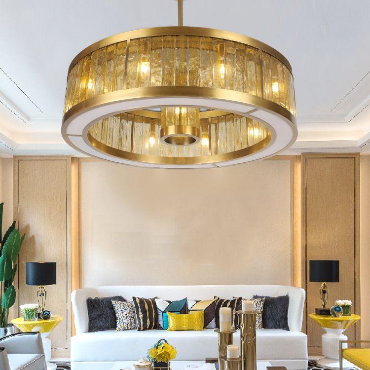 Acheter Anneau Du0027or Lustre En Cristal Salon Moderne Lampe Lumière  Restaurant De Luxe LED Lumière De $1909.55 Du Dh532738711 | DHgate.Com
