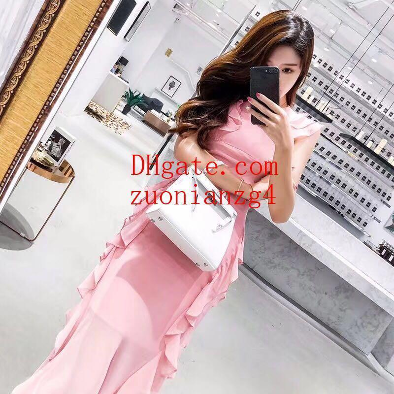 Summer dresses fashion women clothes trend skirt elegant V neck brand women clothing Casual tiered skirt party maxi dresses Female DIR-03