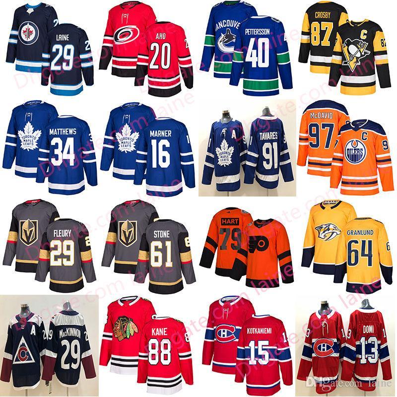 uk availability 2e532 74a77 2019 New hockey jersey Toronto Maple Leafs chicago blackhawks Vegas Golden  Knig 61 Mark Stone40 Pettersson Edmonton Oilers 97 jersey