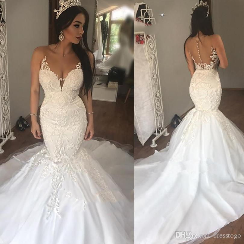Honesty Lace Illusion Wedding Dresses Sexy New Style Real Photo Factory Custom Made Bridal Gown 2019 New Fashion Style Online Wedding Dresses