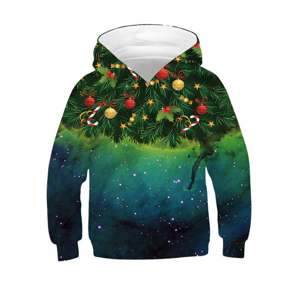 3352e4a9da4ad 2019 Good Quality Toddler Hoodies Baby Girls Boys 3D Print Christmas Hooded Tops  Sweatshirt Clothing Costume Moleton From Superbest12, $32.07 | DHgate.Com