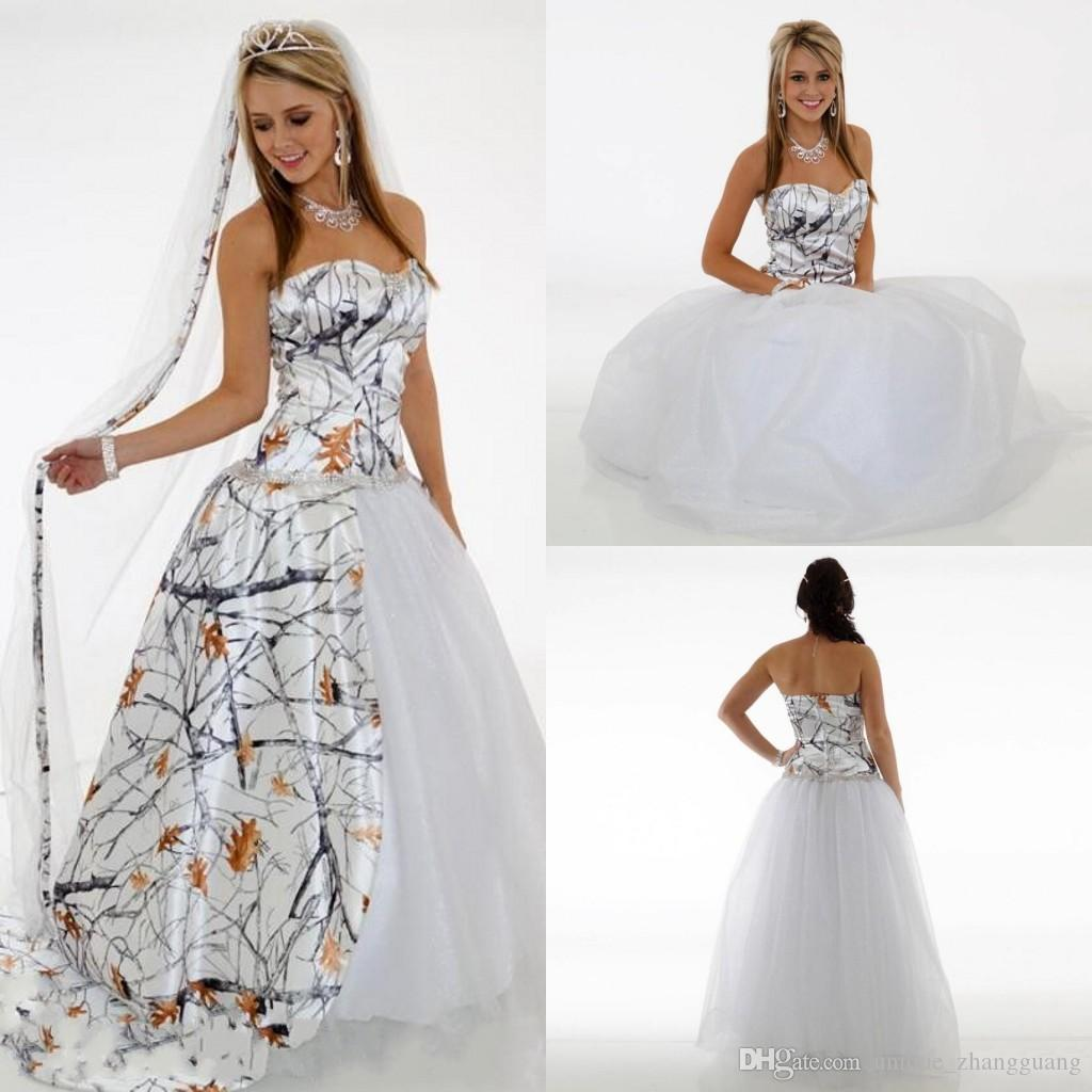 5232a906b55 Discount 2019 Simple Camo Wedding Dresses Sweetheart A Line Tulle Wedding  Guest Dress Bridal Gowns Floor Length Zipper Bridesmaid Dress Long Meng12  Gown For ...
