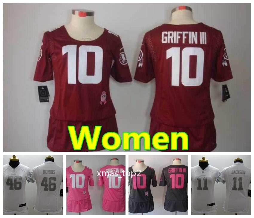 new products 82b6d d6c99 Women 10 Robert Griffin Washington Jersey Redskins Football Jersey Stitched  Embroidery 46 Alfred Morris 11 Alex Smith Football Women Jersey
