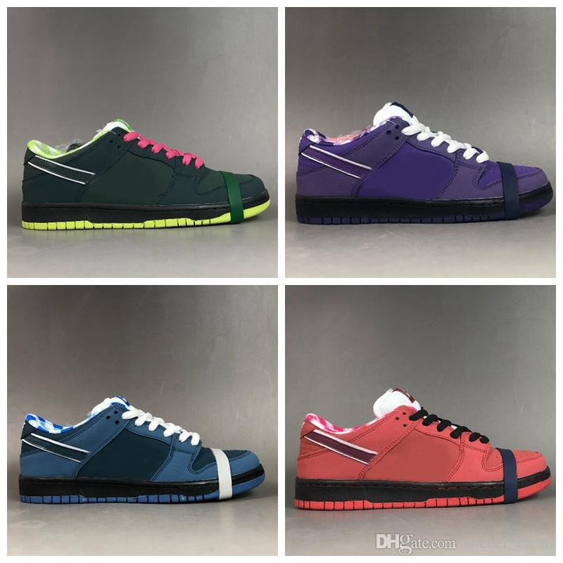 separation shoes 23ef8 d3cc9 2019 2019 Designer Concepts X Sb Dunk Low Kyrie Purple Blue Red Green  Lobster Running Shoes Dunks Women Mens Trainers Authentic Sneakers With Box  From ...