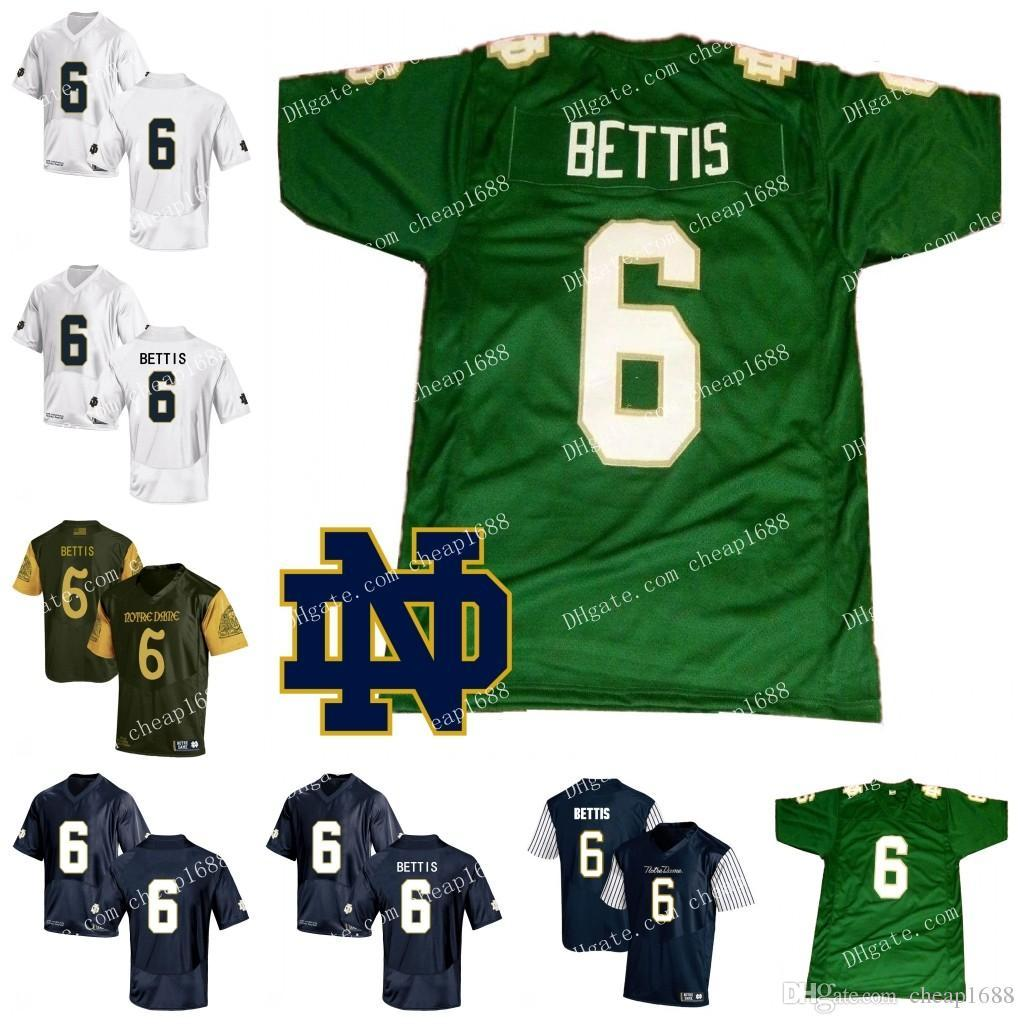 9df5907644b 2019 Notre Dame Fighting Irish #6 Jerome Bettis Jersey Green Vintage  Stitched No Name Navy Blue White Retro NCAA College Football From  Jerseys4858, ...