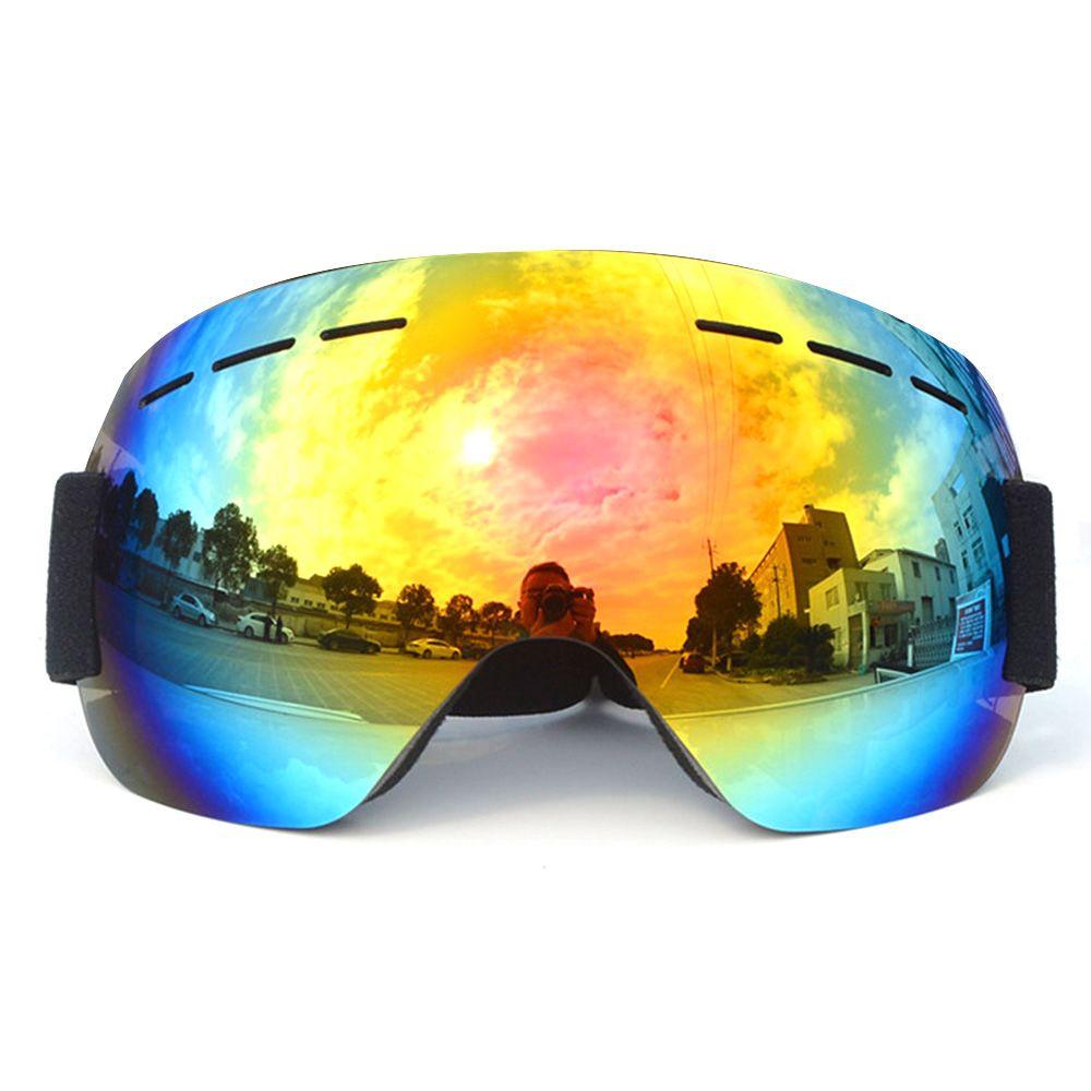 8c4a40e94b6 Outdoor Sports UV400 Skiing Goggles Double Layers Anti-fog Big ...