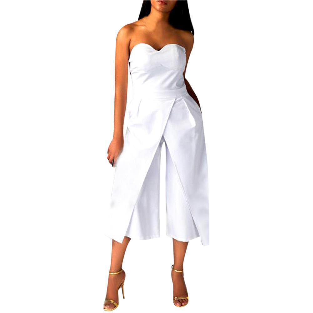 2a308380e091 Acquista Tute Eleganti Donna Donna Clubwear Playsuit Bodycon Pagliaccetti  Da Donna Tuta Da Donna Pantalone Senza Maniche Combinaison Corto A  34.07  Dal ...