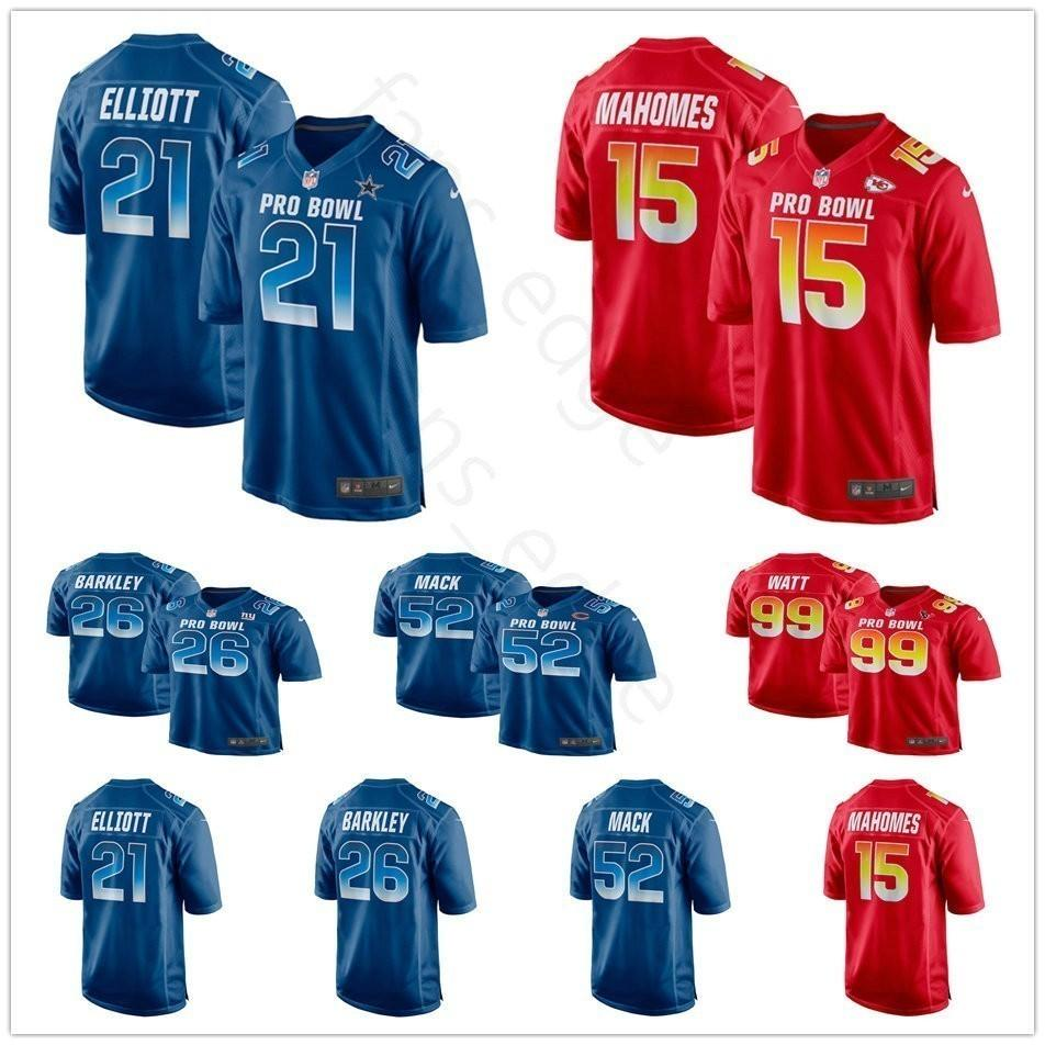 quality design ba844 e0552 2019 Pro Bowl NFC Mens 12 Mike Evans 13 Michael Thomas 14 Stefon Diggs 17  Davante Adams 99 Aaron Donald 52 Khalil Mack Royal Blue Jersey