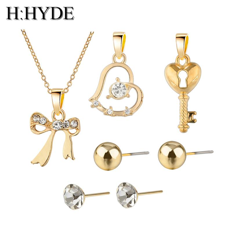 db21d184d H HYDE Trendy Jewelry Sets Bowknot Heart Cubic Zirconia Fashion ...