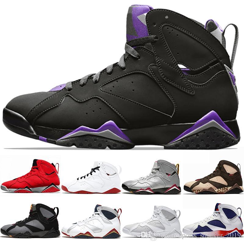 outlet store 4ae6c 8e3ab Nike Air Jordan 7 Retro Patta 7s Ray Allen 7 Hombres Zapatillas de  baloncesto Reflexiones de un campeón Historia del vuelo Liebres Mens  Athletic ...