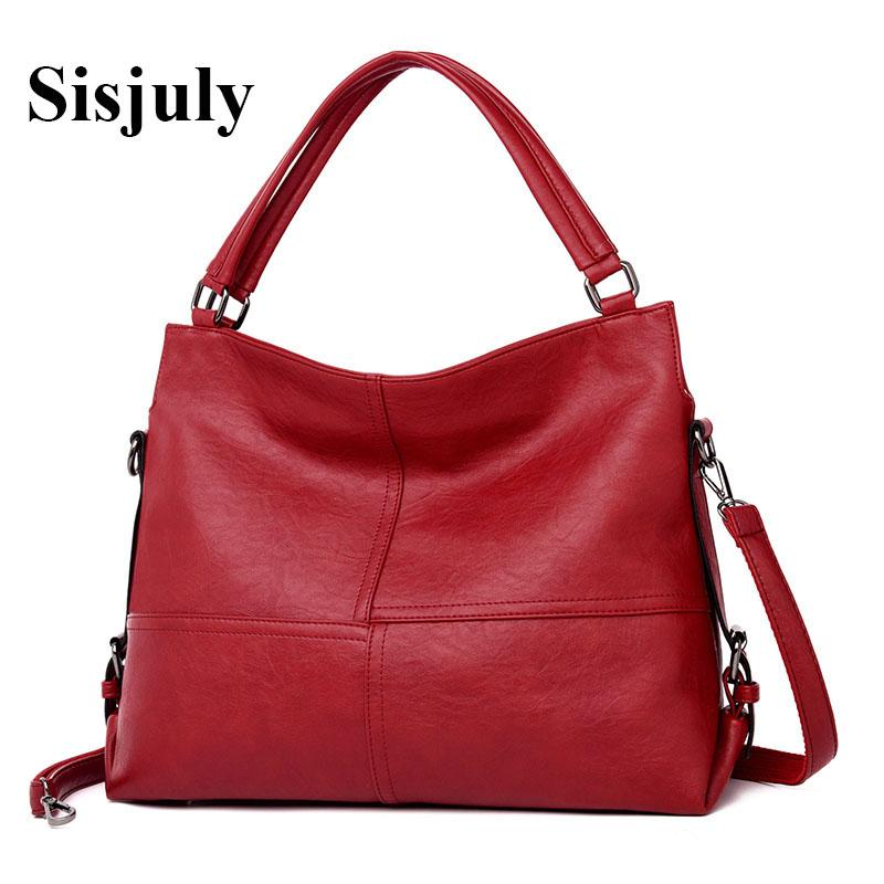 59f724dabcf Sisjuly Luxury Handbags Women Soft Leather Bags Designer Female Tote ...