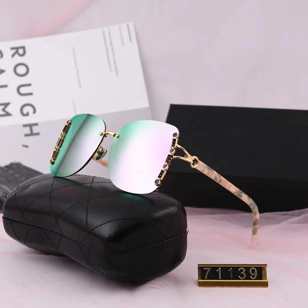 Woman Summer Mirror Designer Sunglasses Luxury Sunglasses Adumbral Goggle Glasses UV400 Model 71139 5 Color Optional High Quality with Box