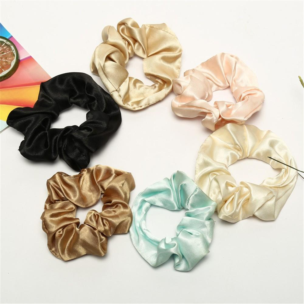 Scrunchie Haarschmuck Trendy Lady Hair Scrunchie Ring Elastische Reine Farbe Bobble Sports Dance Modis # CE25