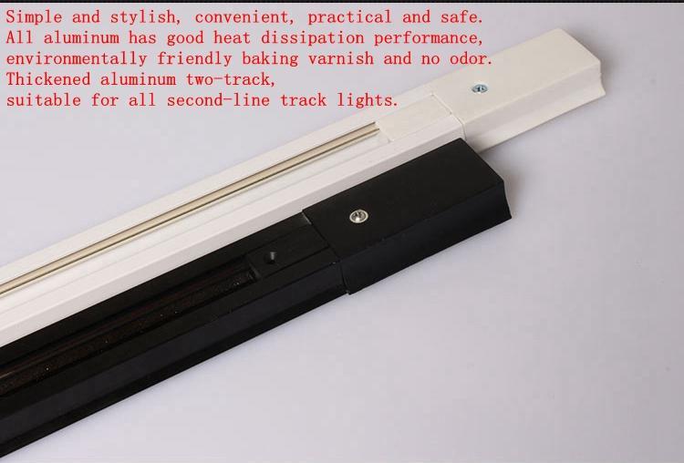 5 piezas de luz de pista dedicada 0.5M / 1M negro / blanco barra de seguimiento de dos líneas interfaz de extensión de 90 grados / interfaz de esquina de 180 grados