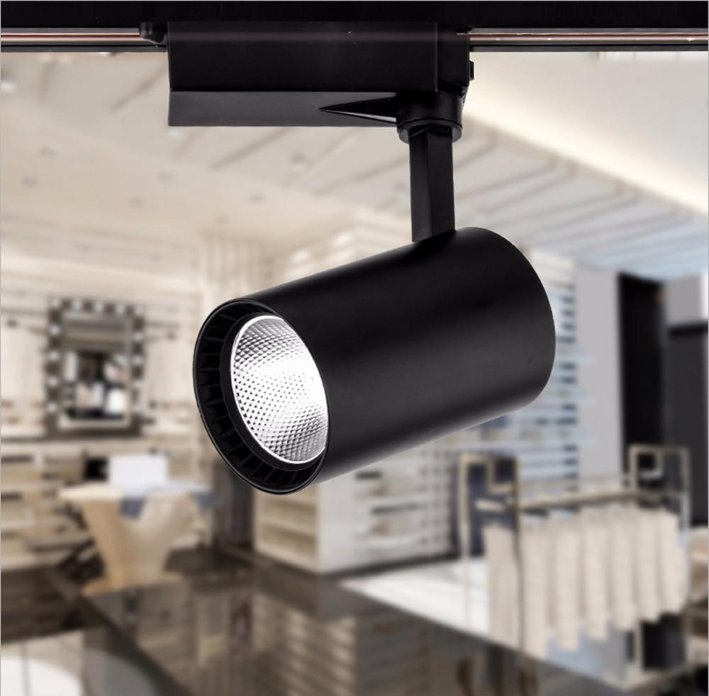 40 adet COB 20 W Led Parça ışık alüminyum Tavan Demiryolu Parça aydınlatma Spot Demiryolu Spot Halojen Lambaları Değiştirin