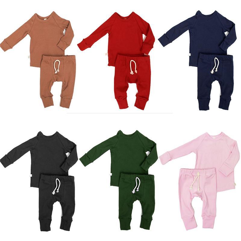 68d442ff9 Compre CANIS Niños Recién Nacidos Baby Boy Girl Pijamas Conjunto De Pijamas  Ropa De Dormir Ropa De Dormir Conjunto De Ropa Conjunto De Ropa De Algodón  ...