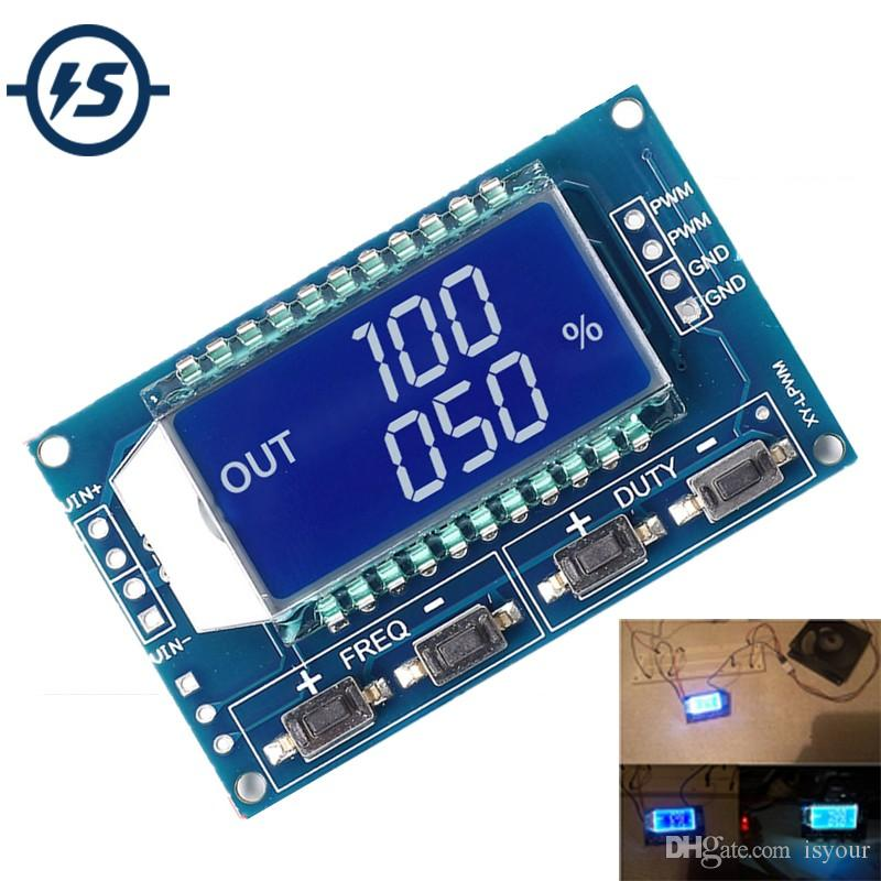 Freeshipping 5pcs/lot Signal Generator PWM Pulse Frequency Duty Cycle  Adjustable Module LCD Display 1Hz-150Khz 3 3V-30V PWM Board Module